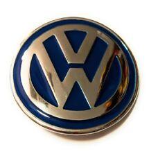 VW LOGO INITIAL VOLKSWAGON CHROME SILVER BLUE BELT BUCKLE US SELLER