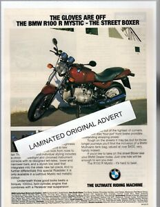 BMW R100 R MYSTIC MOTORCYCLE LAMINATED ORIGINAL ADVERT A4 SIZE