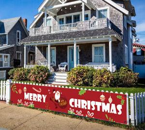 Merry Christmas Outdoor Banner Santa Claus Xmas Decorations Home Xmas Decor DIY