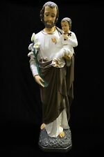 """32"""" Saint St Joseph with Baby Jesus Catholic Statue Sculpture Made in Italy"""