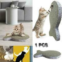 Pets Cat Kitten Corrugated Scratch Board Pad Bone Scratcher Mat Claws Bed D0E5