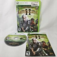 LORD OF THE RINGS THE BATTLE FOR MIDDLE EARTH II 2 (Microsoft Xbox 360) COMPLETE