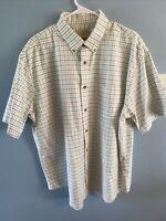 Cabelas Mens Shirt XL  Plaid Short Sleeve Button Down Outfitter Series