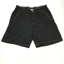 Columbia Sportswear Omni Shade Mens 36 Black 100% Cotton Zip Pocket Cargo Shorts