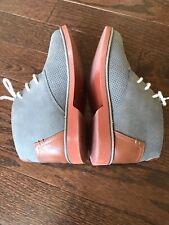 New Steve Madden Braden Boys Youth 4 Gray Suede Dress Shoe Chukka Boot Lace Up