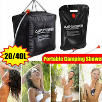 20/40L Solar Heated Shower Bag Water Bag Portable Camping Outdoor Hiking 0