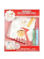 Elf on the Shelf Bath Tub Washable Coloring Book 4 Special Bathtub Crayons -NEW!