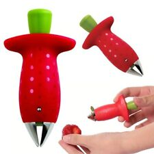 Metal Plastic Fruit Leaf Remover Strawberry Hullers Kitchen Knife Cooking Tools