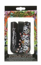 "Ed Hardy Cell Phone Case By Christian Audigier Skull Goth  Design 4.5""x2.4""x5"""
