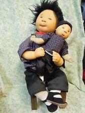 """den-90 Dianne Dengel orig. dolls; """"Siblings"""" - Ooak by Dianne; 13"""" & 11"""""""