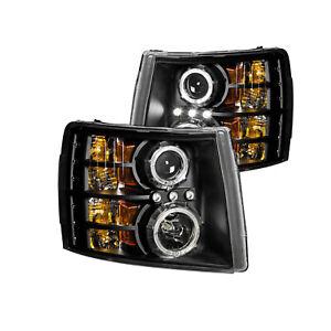 Anzo For 07-13 Chevy Silverado 1500 Projector Headlights Black Clear 111200