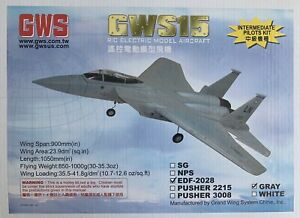 GWS15 F-15 rc electric airplane kit RC ELECTRIC AIRPLANE ARF EDF-2028 NEW ducted