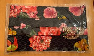 Johnny Was Designer Mask Black Cotton Floral With Cotton Filter Pocket Flowers