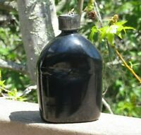 WW2 US ARMY MILITARY USMC ENAMEL Pocelain CANTEEN (unmarked VOLLRATH 1942)