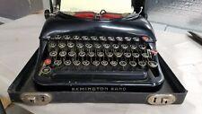 Vintage Remington Rand 5 Typewriter w/ Case & Red Keys, High Gloss Finish, 33-39