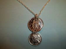 SCOTTISH SHILLING & SIXPENCE COINS - SILVER NECKLACE - 1960 - 60th BIRTHDAY
