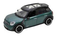 1:24 Scale Mini Cooper S Countryman All4 Green Detailed Model Car Motormax