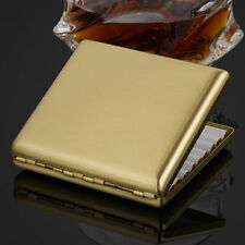 New Golden Pure Copper Metal Cigarette Case Cardcase Holds 20 cigarettes