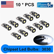 10X LED Extremely Bright 3030 Chipset LED Bulbs for Car Interior Dome Map T10 US