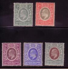 1904 East Africa & Uganda 17-21 Unused Fine Lh Short Set Of 5 wmk 3