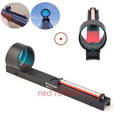 Ultralight red dot scope vista Holográfico vista Rojo Fibra de ajuste carril de escopeta Costilla