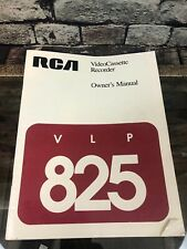 New listing Rca Video Cassette Recorder Vlp 825 Owner's Manual