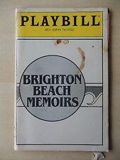 October 1984 - Neil Simon Theatre Playbill - Brighton Beach Memoirs - John Cryer