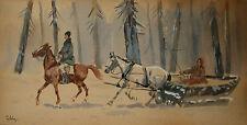 Schlittenfahrt mit Begleiter - Mieczysław Pobisz (1890-1974)