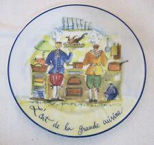 """Williams Sonoma L'art de la Grande Cuisine French Chef 73/4"""" Plate Salad Dessert"""