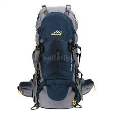 50L Trekking Backpack Pack Mountaineering Climbing Knapsack w Rain Cover C8P8