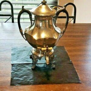 Antique Silver City Plate Co. Quadruple Samovar Coffee Urn