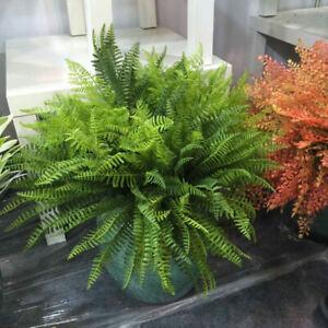 Large Plastic Lifelike Artificial Fern  Foliage Bush Plant Indoor Outdoor