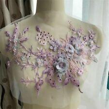 Perle 3D Blumen Spitze Applikation Hochzeits Kleid Dekor Blumenmuster Patch