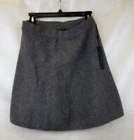 Tahari Womens Gray Flare Skirt Zip Wool Blend Knee Length Size M NEW