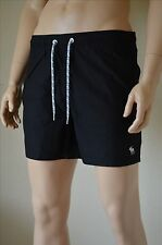 Abercrombie & Fitch Classic Board Swim Tugger Shorts Black Drawstring L
