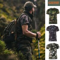 GAME Men's Camo T Shirt Camouflage Top Army / Military / Hunting / Fishing