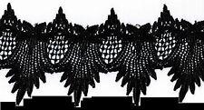 "Venise Lace Trim  4"" Highly Elegant BLACK Rayon Floral Venice Craft #1950"