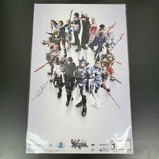 "RARE Final Fantasy Dissidia NT Limited Issue Poster 11x17"" Litho Art Print PS4"