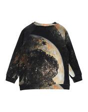 POPUPSHOP Sweatshirt Size 7-8Y Moon Print Round Neck