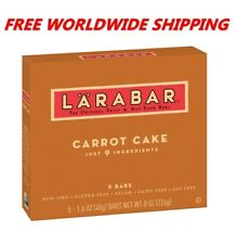 Larabar Carrot Cake Fruit & Nut Bars Gluten Free 5 CT 8 Oz FREE WORLD SHIPPING