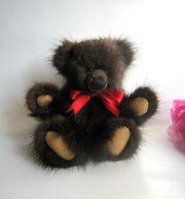 OOAK luxurious designer artist fur bear by Christiane Jordan, Germany. Adorable.