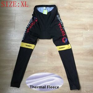 Men Pro Team Cycling Tights Winter Thermal Fleece pants Bicycle Leggings Size XL
