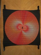Spiral Illusion vintage blacklight poster 1970's Psychedelic Sphere Circles UV