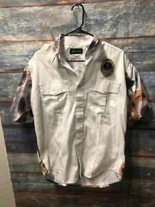 Vintage 1996 Atlanta Olympics Security Button Shirt Jimmy Star Dogs All Over L