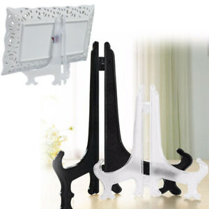 5Pcs Plastic Photo Plate Display Stand Picture Frame Easel Holder Decor Lots