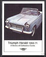 Triumph Herald 1959-71 Tarjeta Colección Set - 1200 12/50 13/60 DESCAPOTABLE