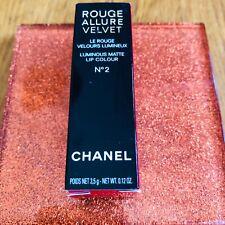 Chanel Rouge Allure Velvet Matte Lipstick Shade No. 2