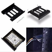 """1PC Black 2.5"""" SSD to 3.5"""" Bay Hard Drive HDD Mounting Dock Tray Bracket Adapter"""