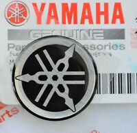 45mm YAMAHA GENUINE RESIN DOMED EMBLEM TUNING FORK STICKER SILVER / BLACK