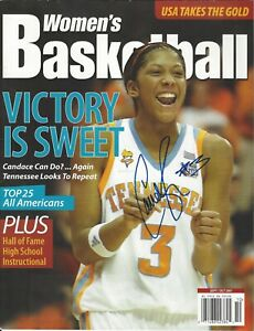 CANDACE PARKER AUTOGRAPH SIGNED WOMEN'S BASKETBALL MAGAZINE TENNESSEE SPARKS COA